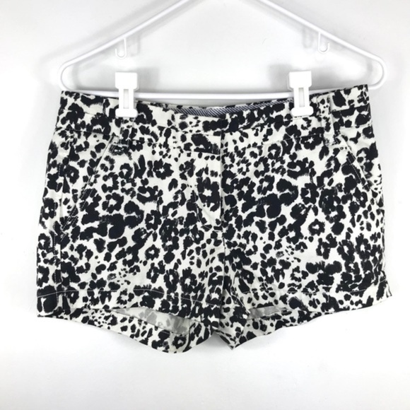 J. Crew Pants - J. Crew black and white pattern shorts size 4